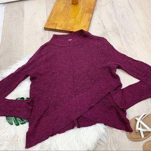 Free People Sweaters - Free People Asymmetrical Knit Fushia Sweater D3017